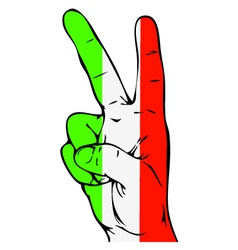 Peace sign of the italian flag vector