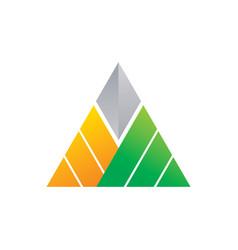 Triangle company logo image vector