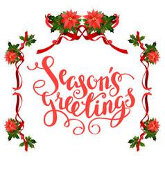 christmas floral frame vector image