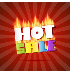 Colorful hot sale title in flames on red retro vector