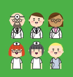 Doctor and nurse icon vector