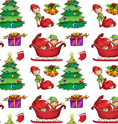 Seamless christmas wrapping vector