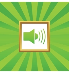 Sound picture icon vector