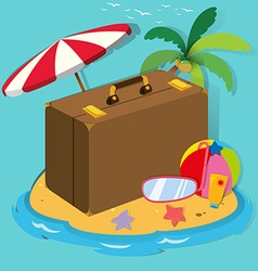 Travel objects on the island vector
