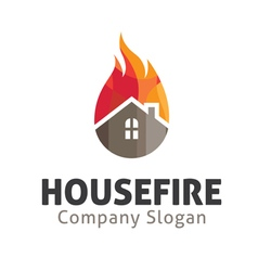 House fire design vector