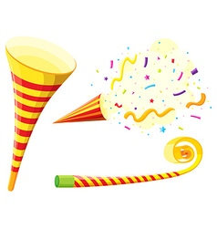 Party horn and blowing instrument vector