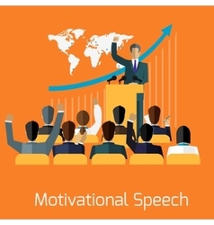 Motivational speech concept design vector