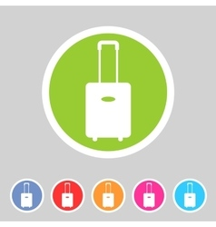 Luggage suitcase bag icon flat web sign symbol vector