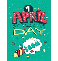 1 april fools day greeting card vector