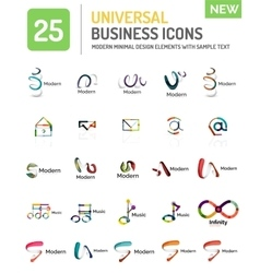 Collection of abstract company logo design vector
