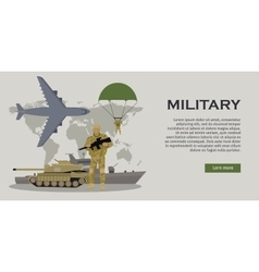 Armed Forces Concept in Flat Design vector image vector image