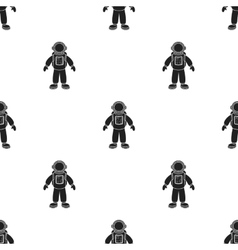 Astronaut icon in black style isolated on white vector image vector image