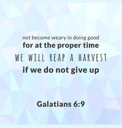 Bible verse from galatians vector