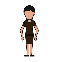 cartoon woman female image vector image vector image