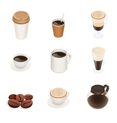 Coffee types coffee cup icons graphic vector