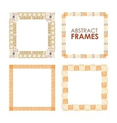 Ethnic frame set vector