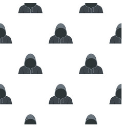 Figure in a hoodie pattern seamless vector