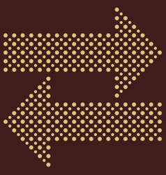 fine dotted arrows vector image vector image