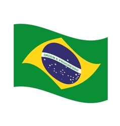 flag brazil emblem icon vector image