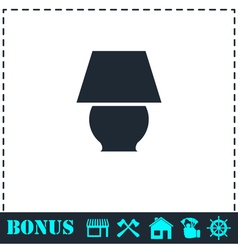 Lamp icon flat vector image vector image