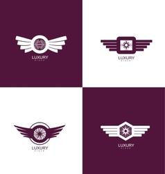Luxury brand logo icon design set vector