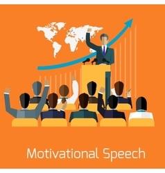 Motivational speech concept design vector image