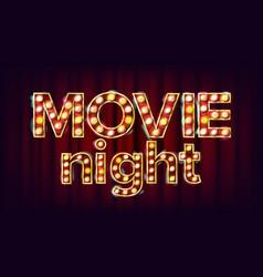 Movie night background theatre cinema vector