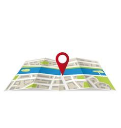 Navigation map vector image