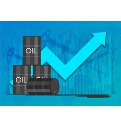 Oil industry concept raising prices chart vector