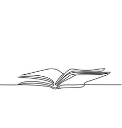 opened book with pages isolated on white vector image vector image
