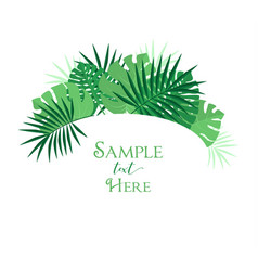 Palm leaf decoration vector