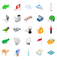 Rest spot icons set isometric style vector