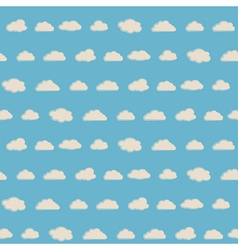 Seamless background with clouds vector image vector image