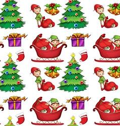 Seamless christmas wrapping vector image vector image