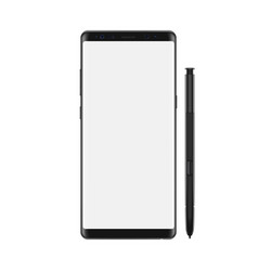 smartphone with blank white screen isolated on vector image
