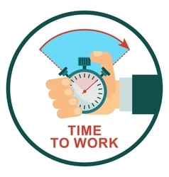 stopwatch time to work vector image vector image