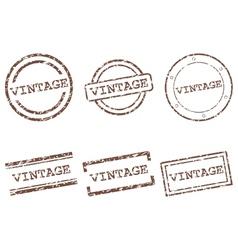 Vintage stamps vector image