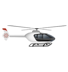 White modern helicopter vector image vector image