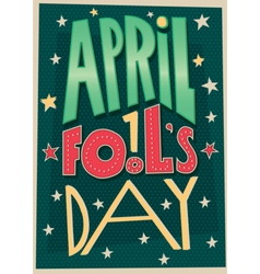 1 april fools day poster vector