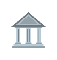 Museum building icon flat style vector