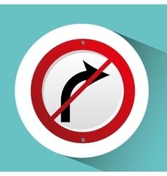 Sign traffic white and red blank design vector