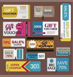 Sale coupon card percent discount symbol vector