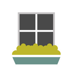 Windows house style isolated icon vector