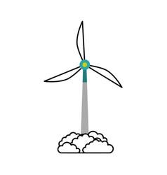 Alternative sources of energy renewable windmills vector