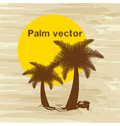 Palm tree background vector