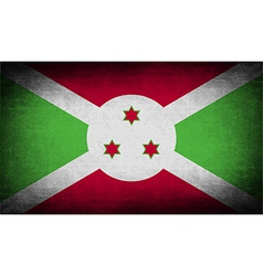 Flag of burundi with old texture vector