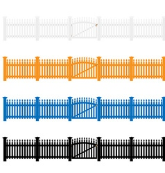 Garden fences vector