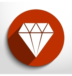 Diamond web icon vector