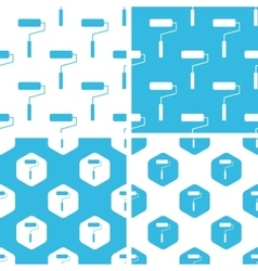 Paint roller patterns set vector