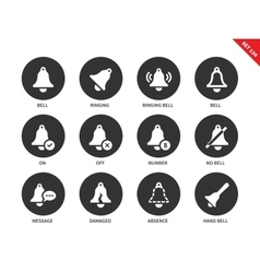 Bells icons on white background vector